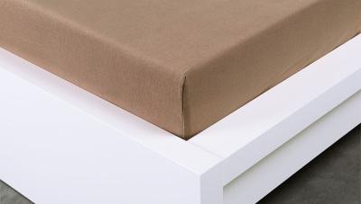 Jersey prostěradlo Exclusive jednolůžko - hnědé 90x200  cm