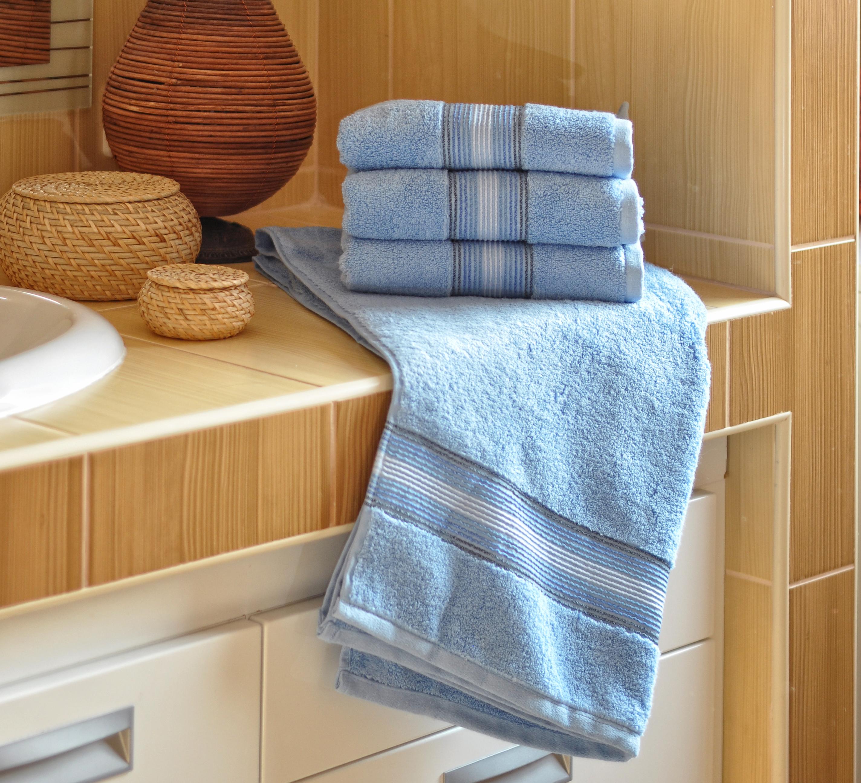 Luxusní Froté ručník  DITA 50x100 cm- MODRÝ