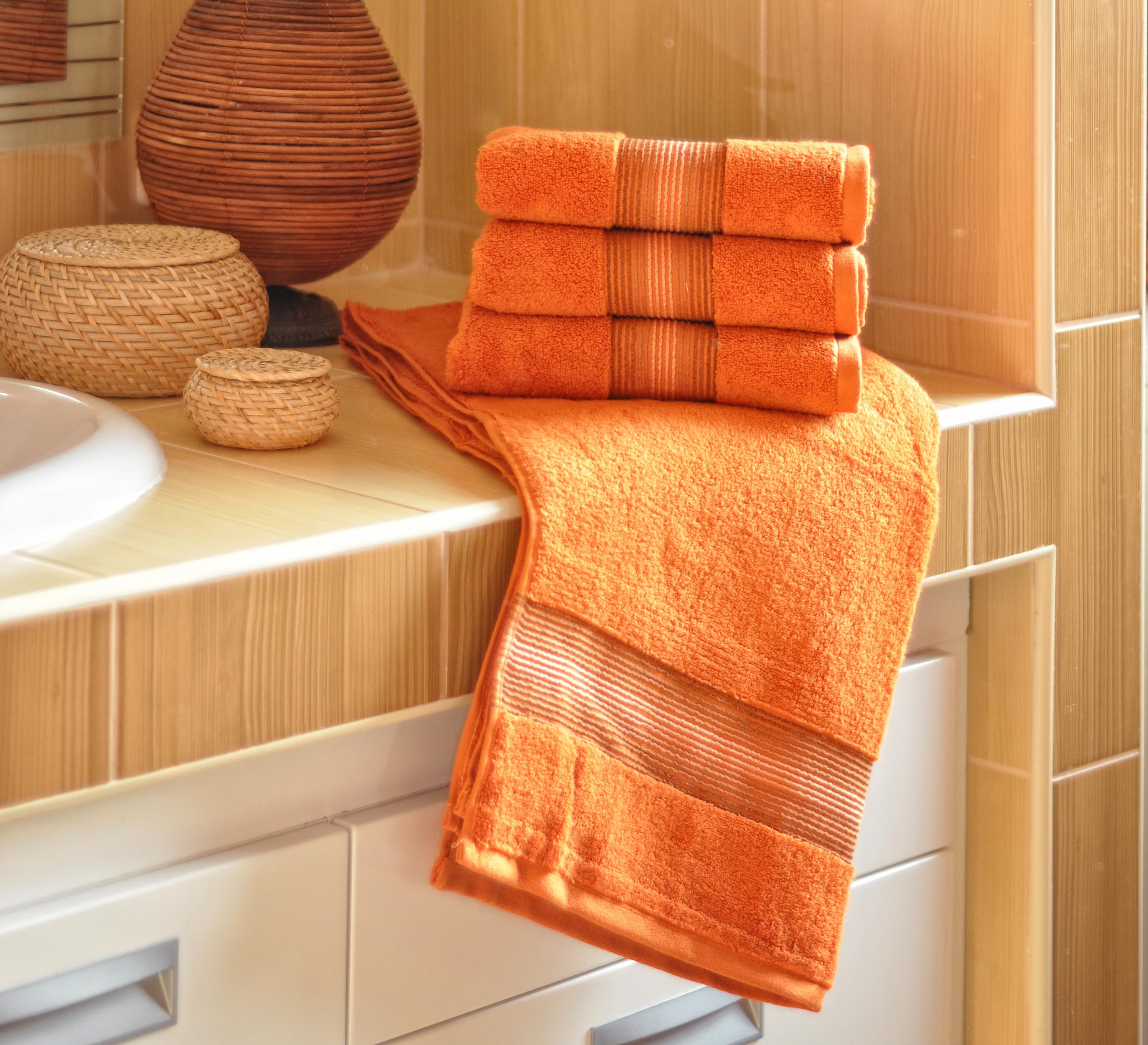 Luxusní Froté ručník  DITA 50x100 cm - TERAKOTOVÝ
