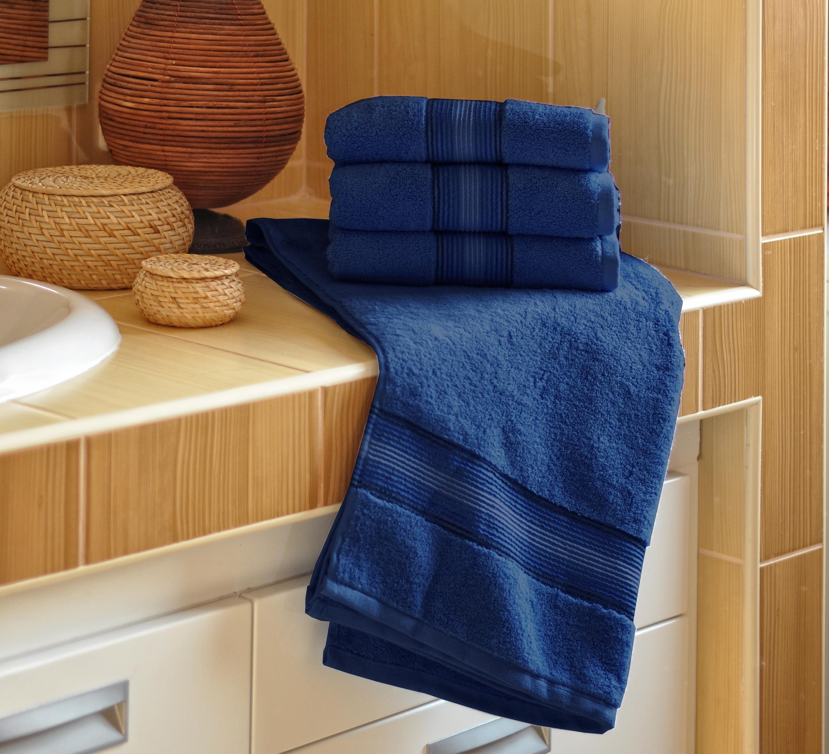 Luxusní Froté ručník  DITA 50x100 cm - TMAVĚ MODRÝ