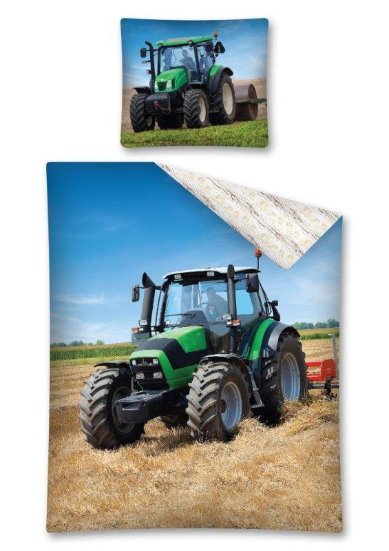 Povlečení Traktor green 140/200, 70/90