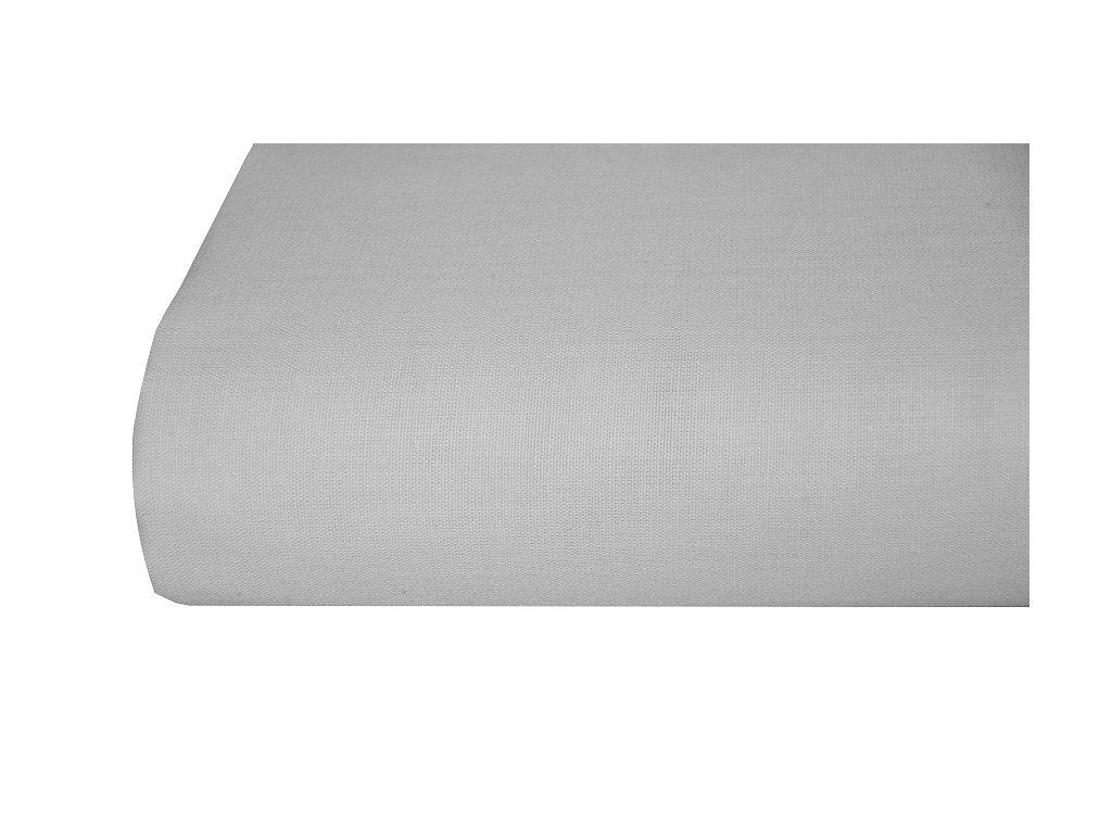 Bavlněná plachta, prostěradlo 140x225 cm šedé