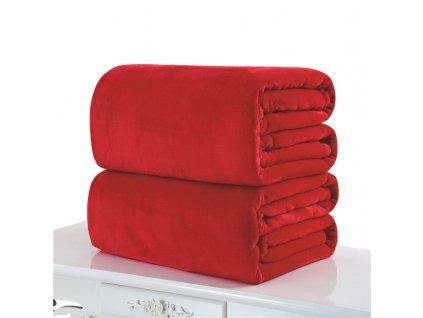 deka z mikroflanelu 150x200cm červená
