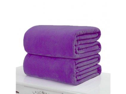deka z mikroflanelu 150x200cm tmavě fialová