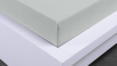 Jersey prostěradlo Exclusive dvojlůžko - světle šedé 160x200 cm