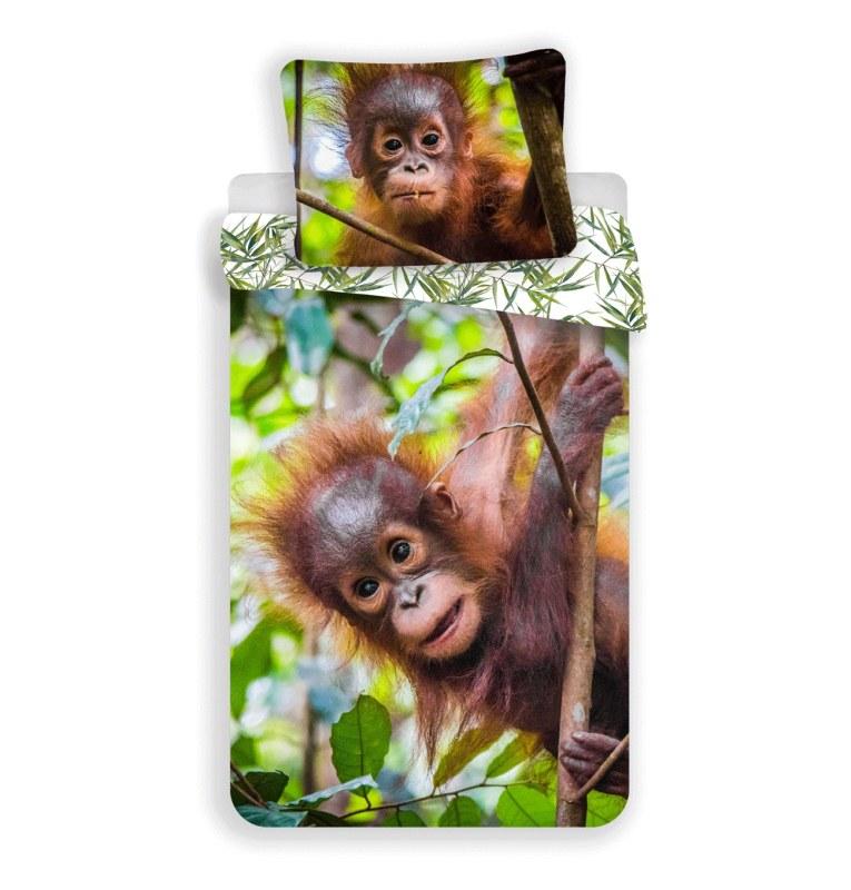 Povlečení Orangutan 140/200, 70/90 cm