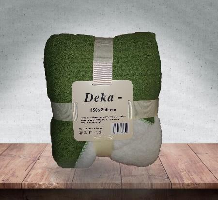 DEKA MIKROPLYŠ S BERÁNKEM 150x200cm  - NORGE ZELENÁ