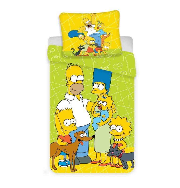 Povlečení Simpsons green II. 140/200, 70/90