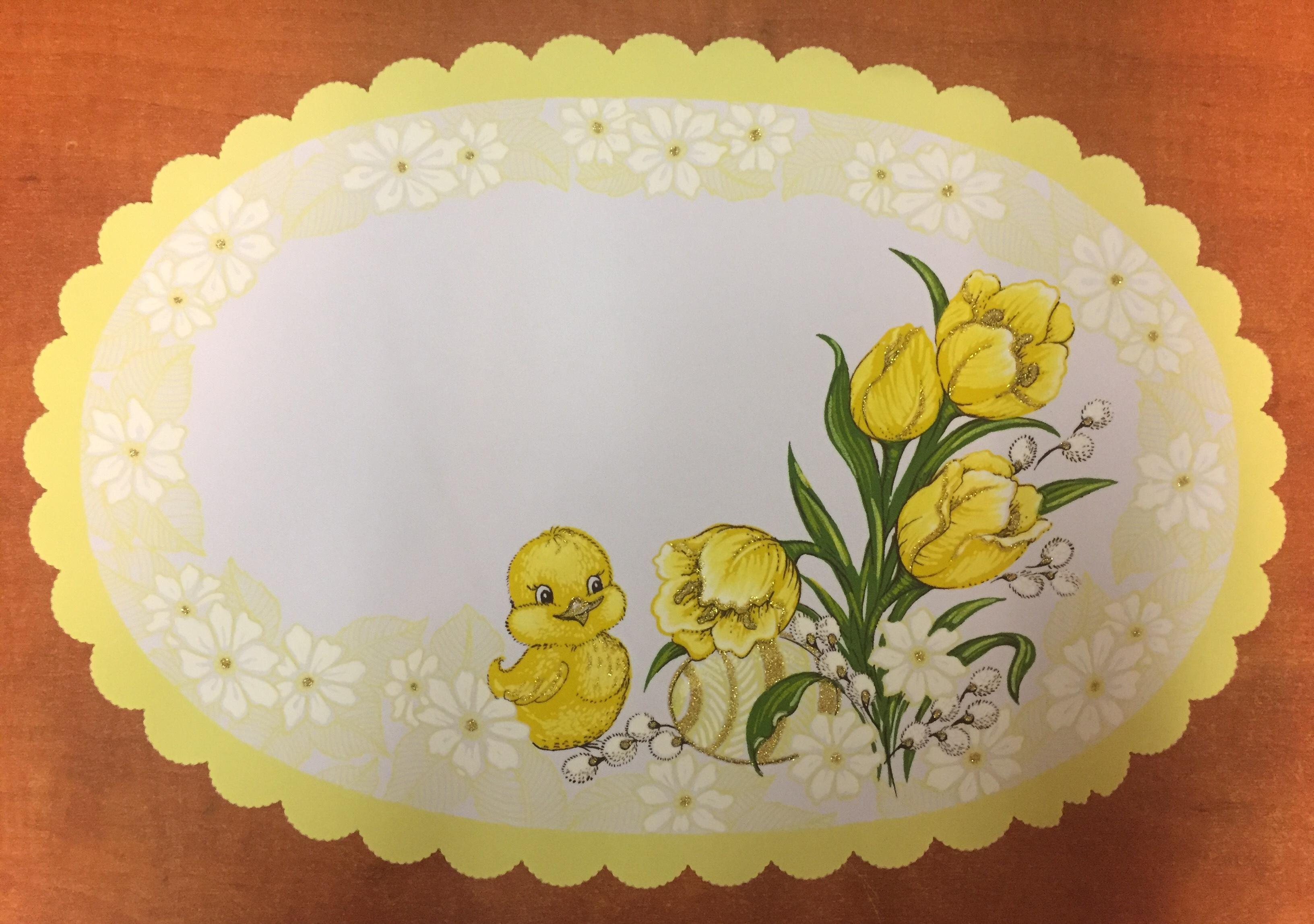Velikonoční prostírání  32x48cm kačenka světle žlutá