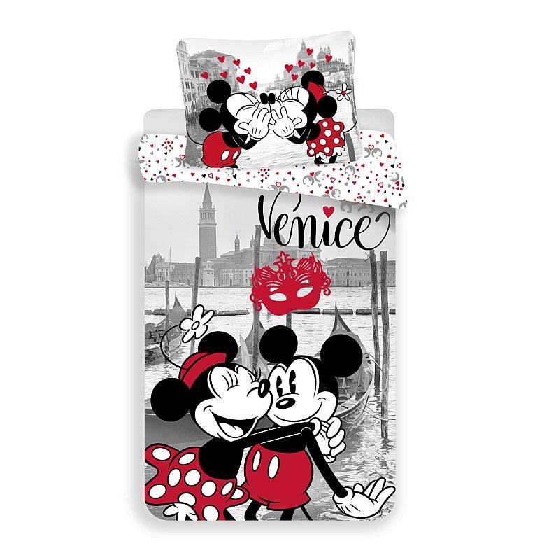 Povlečení Mickey a Minnie v Benátkách  140/200, 70/90