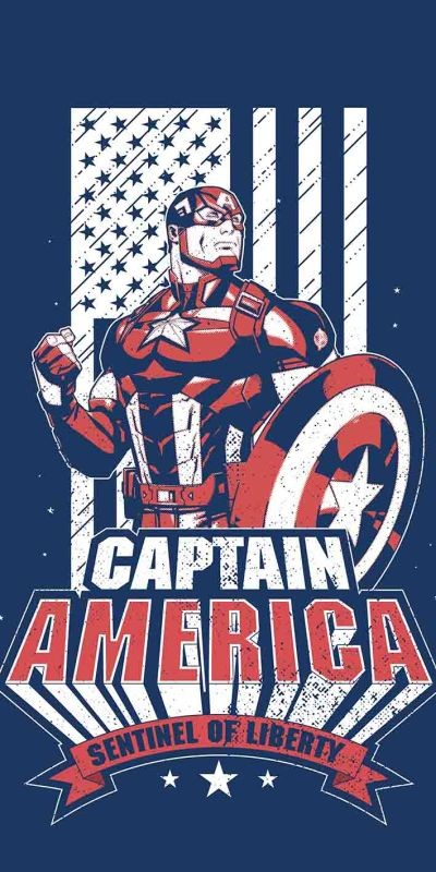 Osuška Avengers Kapitán Amerika 70/140cm
