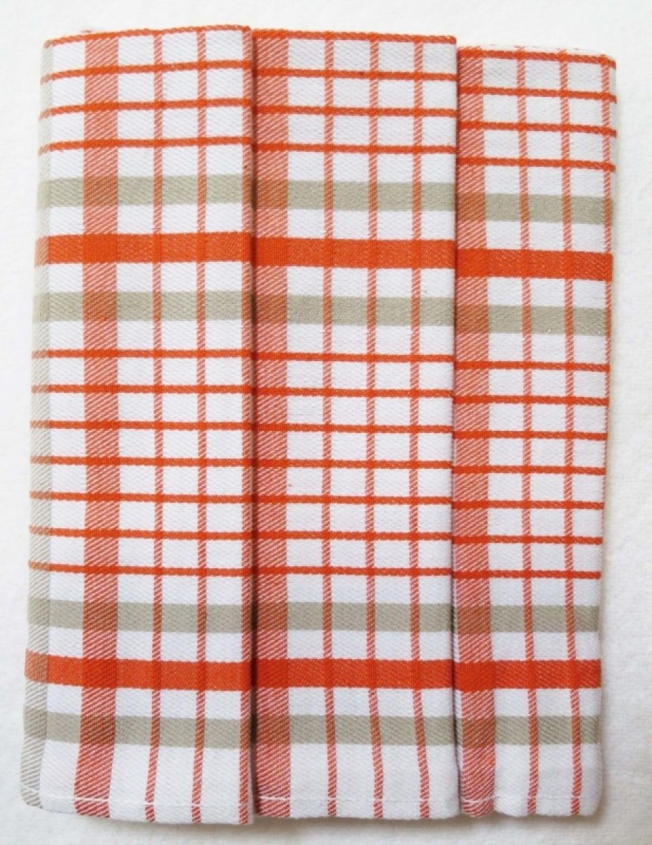 Utěrky kuchyňské z Egyptské bavlny 50x70 cm -  sada 3 ks  č.15