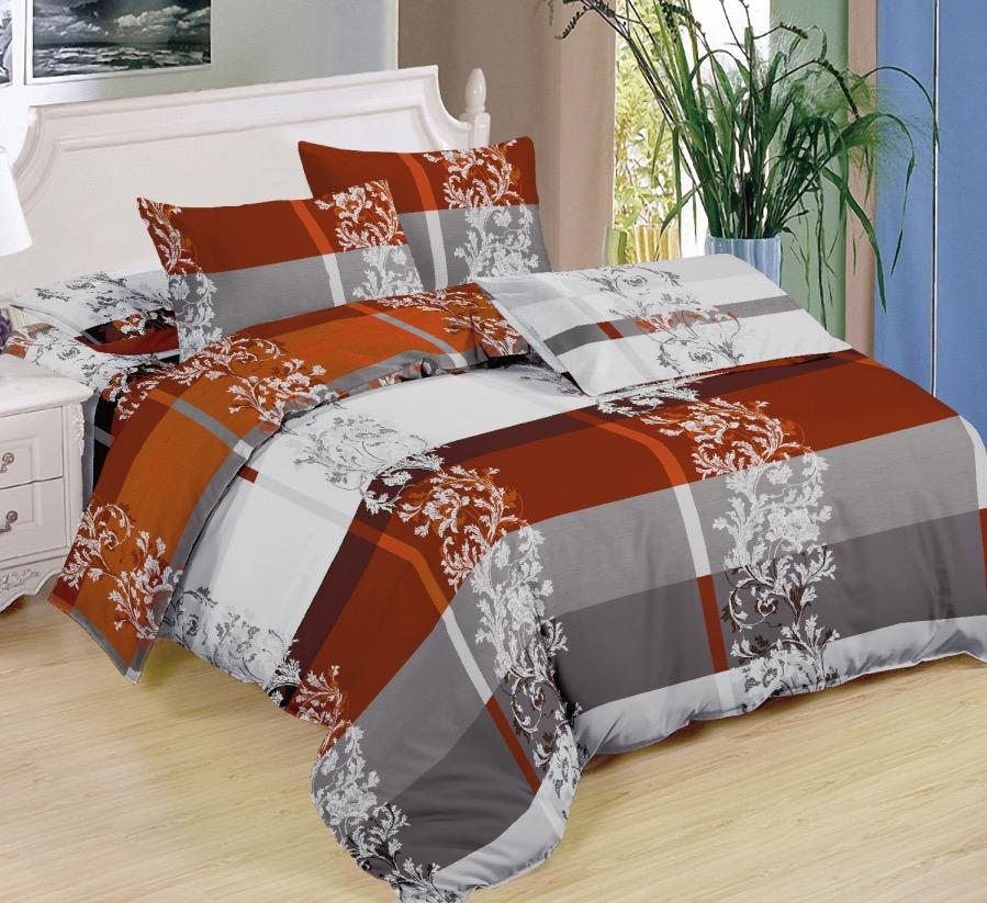 7 dílné  povlečení na 2 postele   140x200/ 70x90 - CORRY HNĚDÁ+ prostěradlo ZDARMA