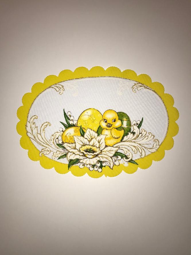 Velikonoční prostírání  20x30cm kačenka žlutá