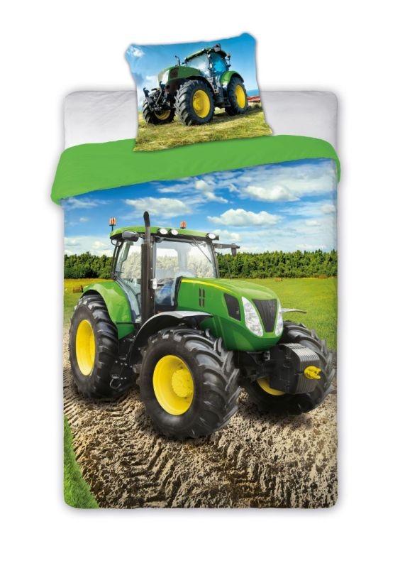 Povlečení Traktor zelený 140/200, 70/90