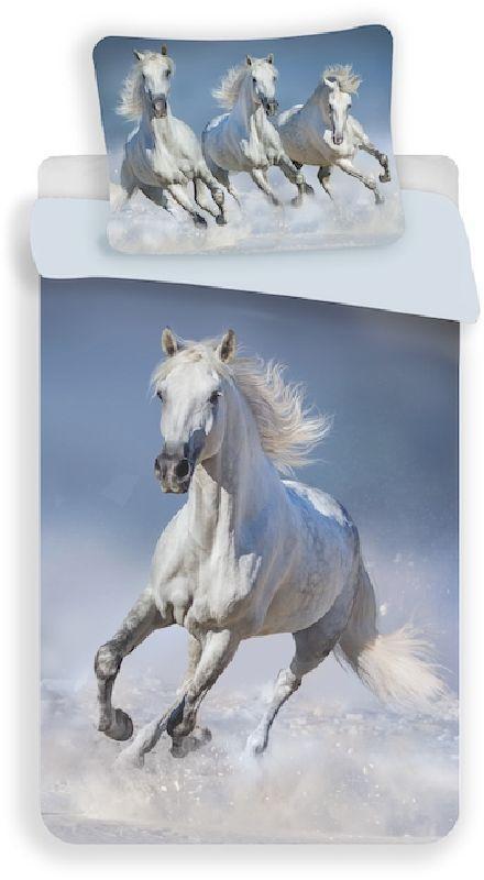 Povlečení Horses white 140/200, 70/90