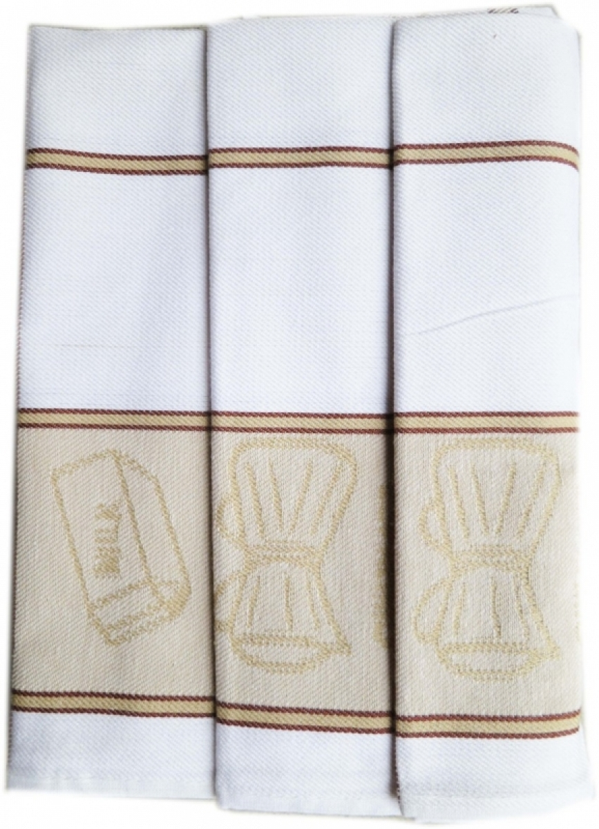 Utěrky kuchyňské z Egyptské bavlny 50x70 cm -  sada 3 ks  č.33
