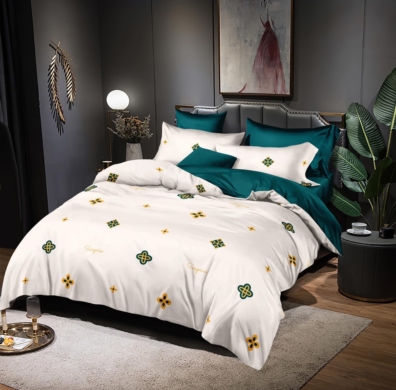 Luxusní Bavlněné povlečení na 2 postele 140x200/ 70x90 -  TONIČKA  + prostěradlo ZDARMA