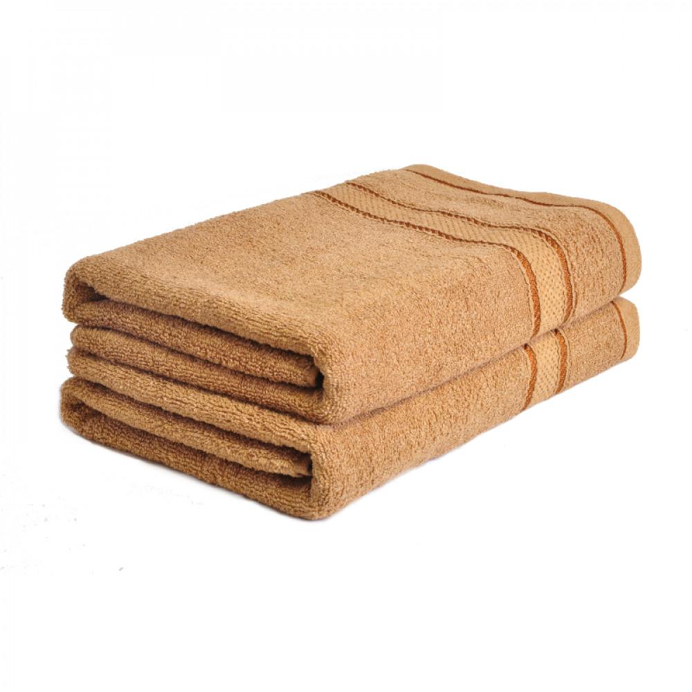 Froté ručník 50x100 cm - SVĚTLE HNĚDÝ