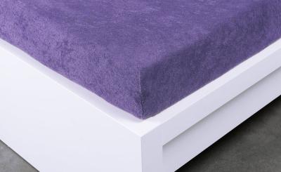 Froté prostěradlo Exclusive dvoulůžko - fialové 180x200 cm