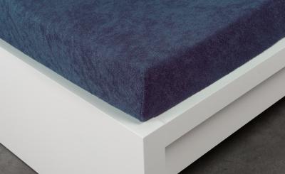 Froté prostěradlo Exclusive dvoulůžko - tmavě modré 180x200 cm