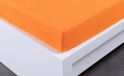 Froté prostěradlo Exclusive dvoulůžko - oranžové 200x220 cm