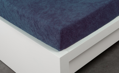 Froté prostěradlo Exclusive dvoulůžko - tmavě modré 200x220 cm