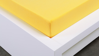 Jersey prostěradlo Exclusive jednolůžko - žluté 90x200 cm