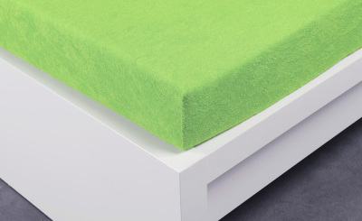 Froté prostěradlo Exclusive dvoulůžko - letní zelená 160x200 cm
