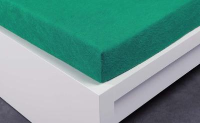 Froté prostěradlo Exclusive dvoulůžko - tmavě zelené 160x200 cm