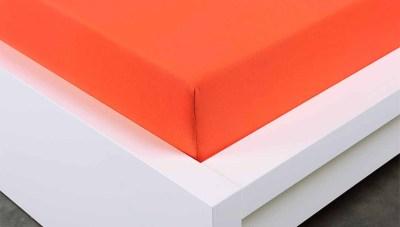 Jersey prostěradlo Exclusive dvojlůžko - oranžová 160x200 cm