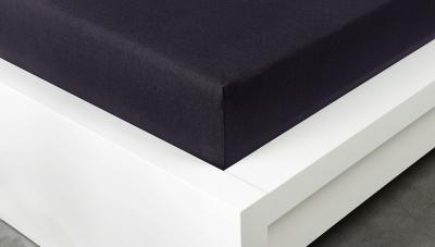 Jersey prostěradlo Exclusive dvojlůžko - černé 160x200 cm