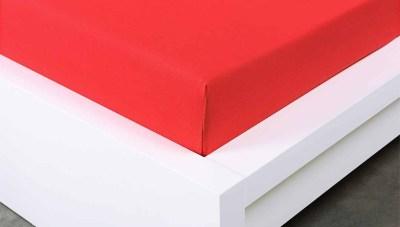 Jersey prostěradlo Exclusive dvojlůžko - červené 160x200 c