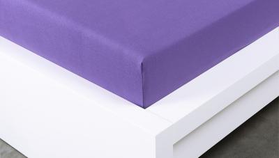 Jersey prostěradlo Exclusive dvojlůžko - fialové 160x200 cm