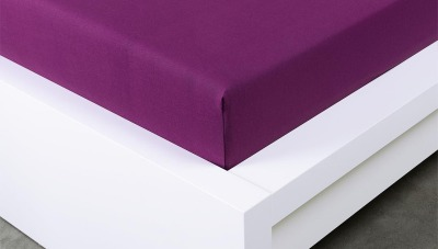 Jersey prostěradlo Exclusive dvojlůžko - švestkové 160x200 cm