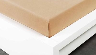 Jersey prostěradlo Exclusive dvojlůžko - béžové 200x 220 cm