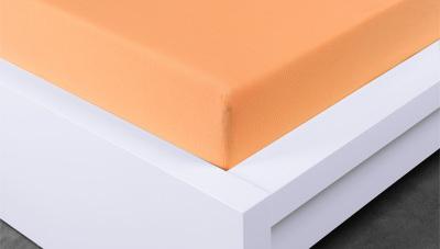 Jersey prostěradlo Exclusive dvojlůžko - meruňkové 200x220 cm