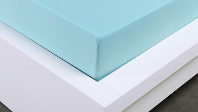 Jersey prostěradlo Exclusive dvojlůžko - světle modré  200x220 cm