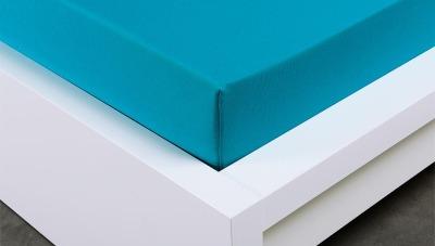 Jersey prostěradlo Exclusive dvojlůžko - tyrkysové 200x220 cm