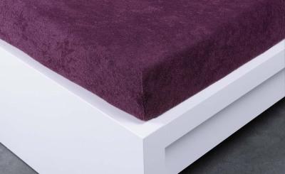 Jersey prostěradlo Exclusive dvojlůžko - švestková 200x220 cm