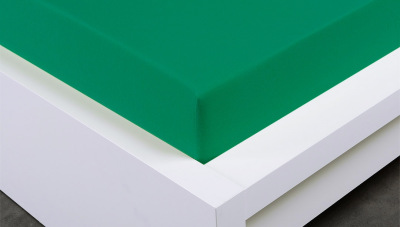 Jersey prostěradlo Exclusive dvojlůžko - zelené 160x200 cm