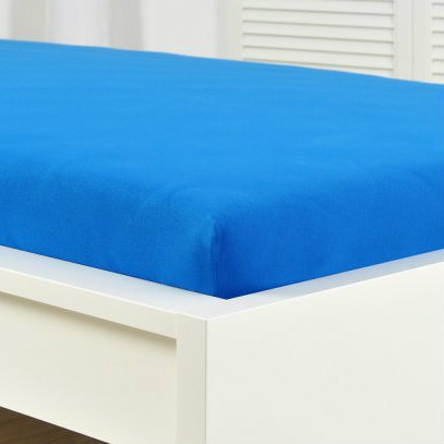 Prostěradlo úplet 180x200 cm- modrá
