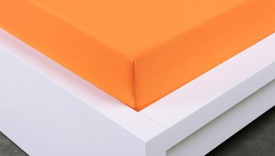 Jersey prostěradlo Exclusive dvojlůžko -  oranžové 180x200 cm