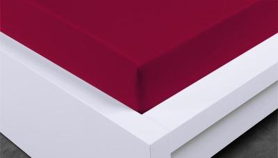 Jersey prostěradlo Exclusive dvojlůžko - bordó 180x200 cm