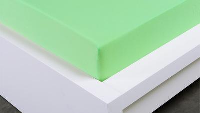 Jersey prostěradlo Exclusive dvojlůžko - světle zelené 180x200 cm