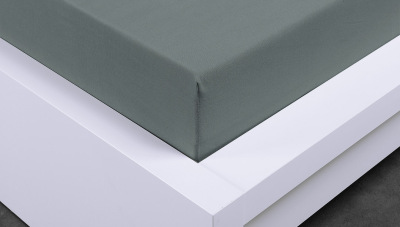 Jersey prostěradlo Exclusive dvojlůžko -  šedé 180x200 cm