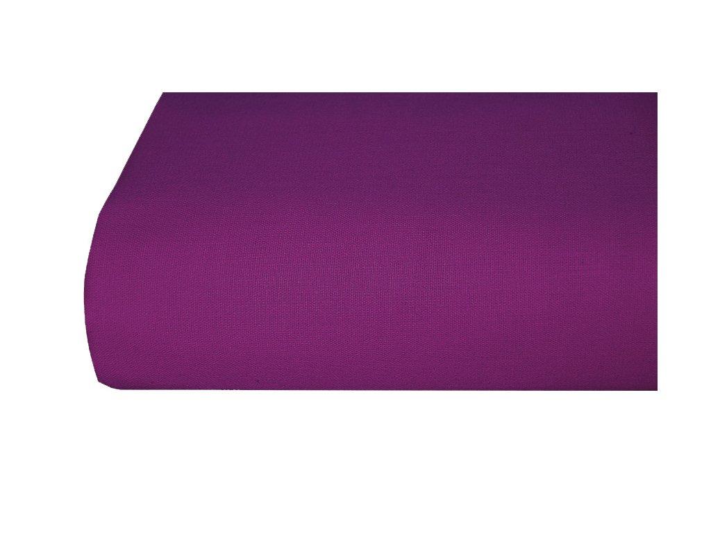 Bavlněná plachta, prostěradlo 140x225 cm fialové