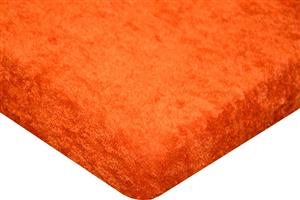 Froté prostěradlo do  postýlky 60x120cm - oranžové