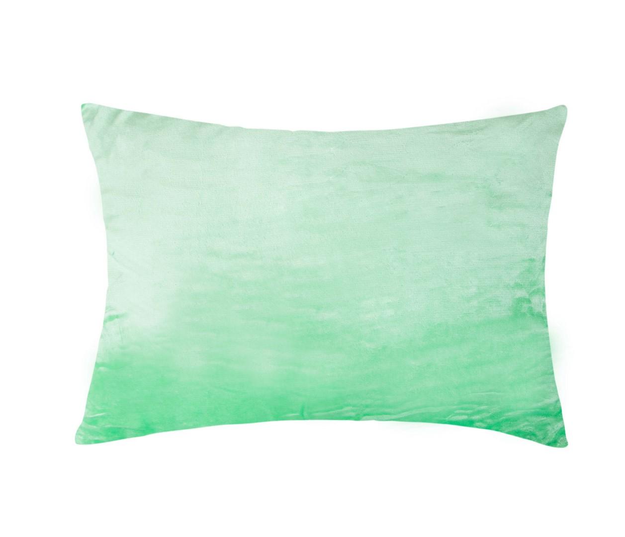 Povlak na polštář mikroflanel - světle zelená 40x60 cm