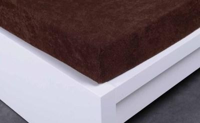 Jersey prostěradlo Exclusive dvojlůžko -tmavě hnědé 140x200 cm
